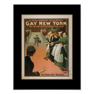 Vintage Theatre Poster Gay New York