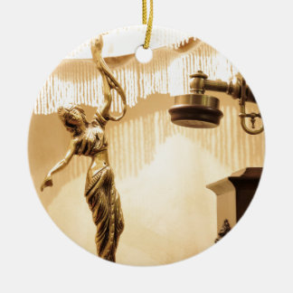 Vintage theme with antique lampshade and retro tel round ceramic decoration