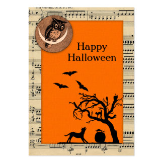 Vintage Themed Halloween Gift Tags Large Business Cards (Pack Of 100)
