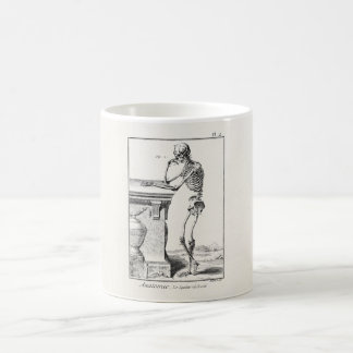 Vintage Thinking Human Skeleton Medical Anatomy Coffee Mug