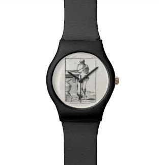 Vintage Thinking Human Skeleton Medical Anatomy Watch