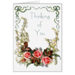 Vintage - Thinking of You Greeting Card