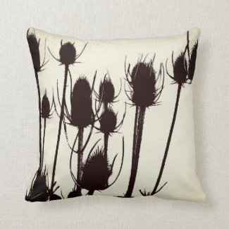 Vintage thistle cushion