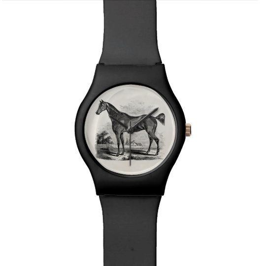Vintage Thoroughbred Horse Equestrian Personalised Watch