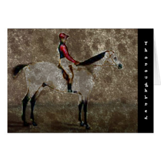Vintage Thoroughbred Race Horse Card