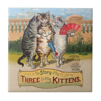 Vintage Three Little Kittens Lost Mittens Tile