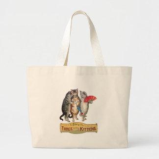 Vintage Three Little Kittens Lost Mittens Canvas Bag