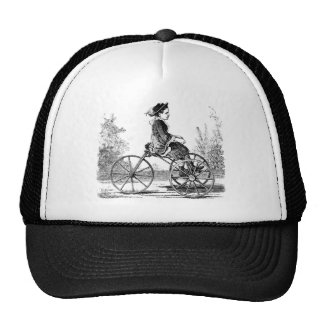 Vintage Three Wheel Bicycle Trike Trucker Hat