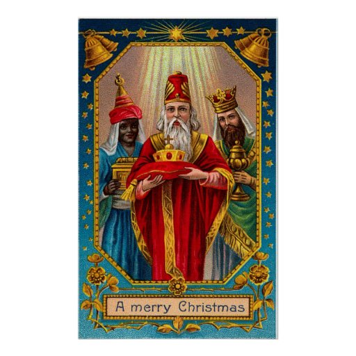 Vintage Three Wisemen Christmas Poster