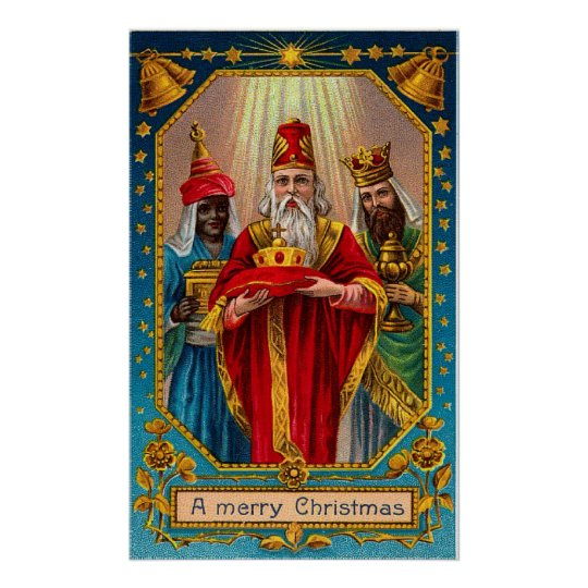 Vintage Three Wisemen Christmas Poster