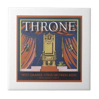 Vintage Throne Citrus Growers Crate Label Tile