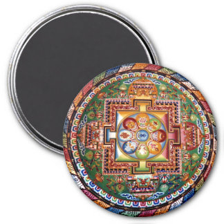 Vintage Tibetan Tantric Buddhism Mandala 7.5 Cm Round Magnet