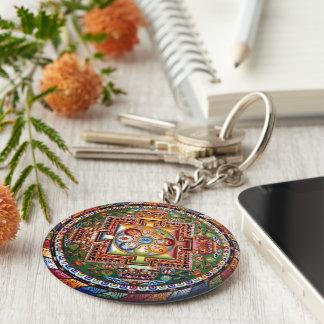 Vintage Tibetan Tantric Buddhism Mandala Key Ring