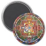 Vintage Tibetan Tantric Buddhism Mandala Refrigerator Magnet