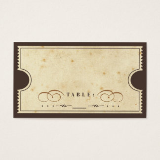 Vintage Ticket Escort Card