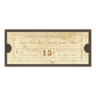 Vintage Ticket Invitation