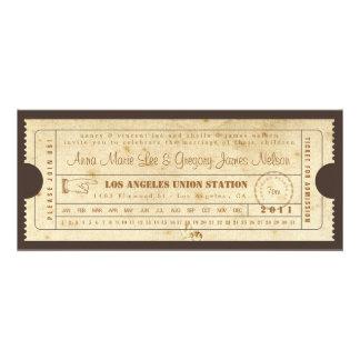 Vintage Ticket Invitation - Punch Card