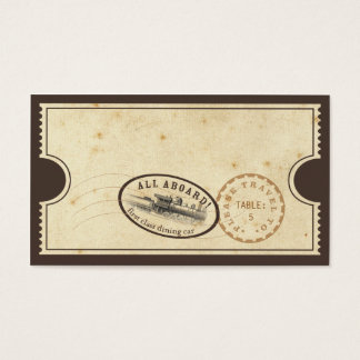Vintage Ticket - Train Escort Card