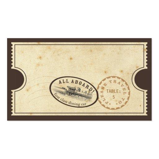 Vintage Ticket - Train Escort Card Business Card Templates