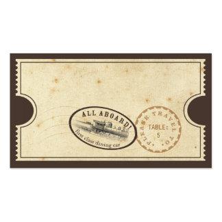 Vintage Ticket - Train Escort Card Pack Of Standard Business Cards