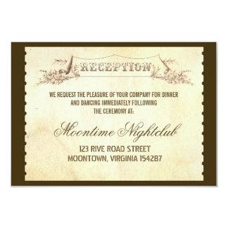 vintage ticket wedding reception design 9 cm x 13 cm invitation card