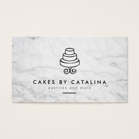 Vintage Tiered Cake Design on White Marble Bakery