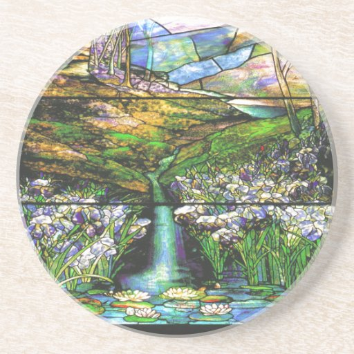 Vintage Tiffany Stained Glass Coaster