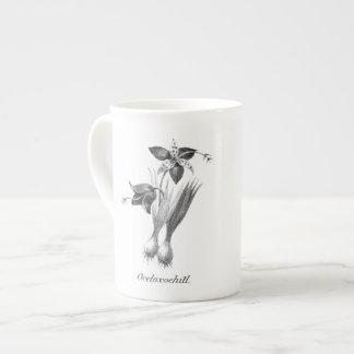 Vintage tiger flower etching mug
