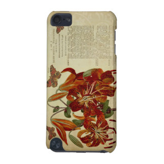 Vintage Tiger Lily Botanical Illustration iPod Touch 5G Covers