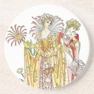 Vintage Tiger Lily Lady Coaster