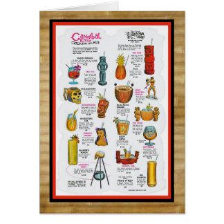 Vintage Tiki menu art! Card