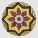 Vintage Tile Classic Round Sticker