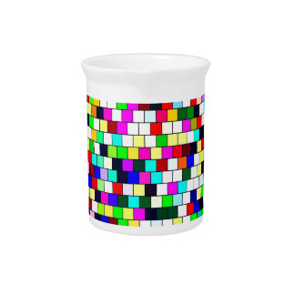 Vintage tile color background pitcher