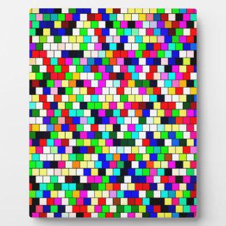 Vintage tile color background plaque