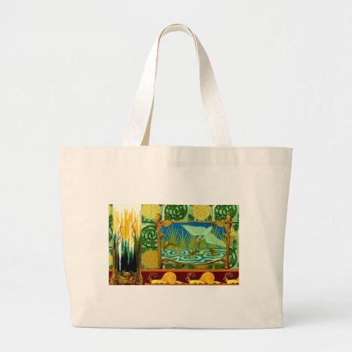 Vintage Tile Design Arts And Crafts Art Nouveau Canvas Bag Zazzle