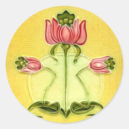 Vintage Tile Designs Arts and Crafts Art Nouveau Sticker