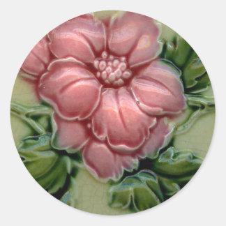 Vintage Tile Designs Arts and Crafts Art Nouveau Round Sticker