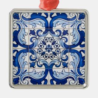 Vintage Tile Pattern Christmas Ornament