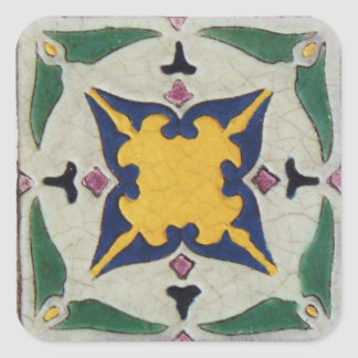 Vintage Tile Square Sticker