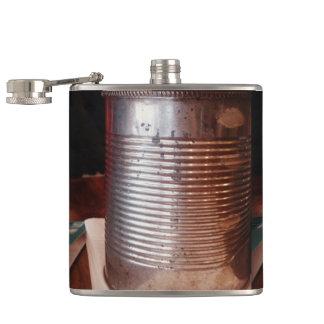Vintage Tin Can Hip Flask
