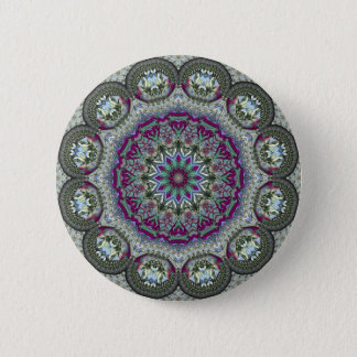 Vintage Tin - Paisley Print 6 Cm Round Badge