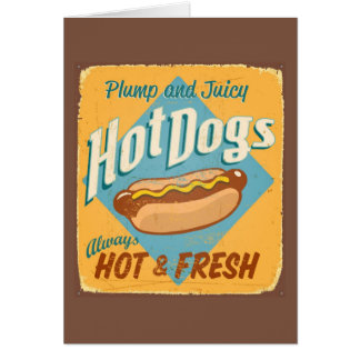 Vintage tin sign - Hot Dogs Greeting Card