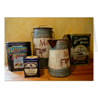 Vintage Tins and Jugs Greeting Card