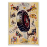 Vintage Tire Ad - Dunlp Tires Posters