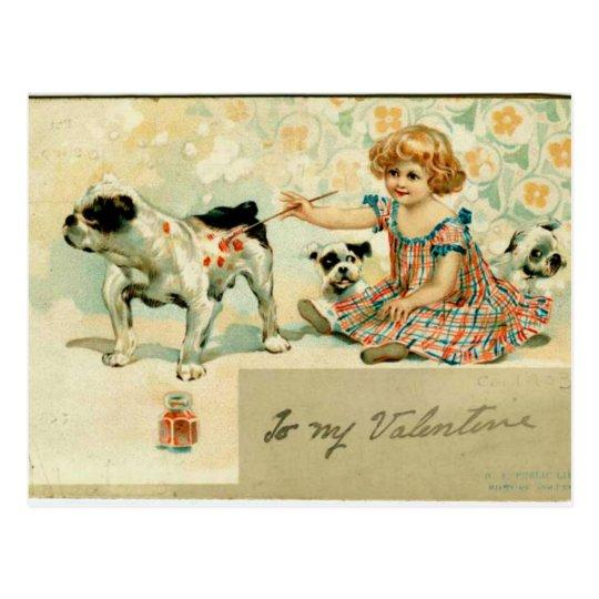 Vintage - To My Valentine Postcard