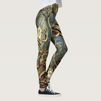 Vintage Toads and Frogs Batrachia by Ernst Haeckel Leggings