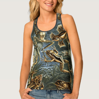 Vintage Toads and Frogs Batrachia by Ernst Haeckel Tank Top