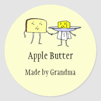Vintage Toast and Butter Custom Canning Sticker