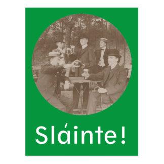 Vintage Toast Toasting Slainte! Mens Club Postcard