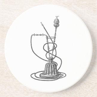 Vintage Tobacco Pipes Antique Hookah Illustration Coaster